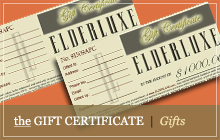 ELDERLUXE Gift Certificate for great gifts for seniors