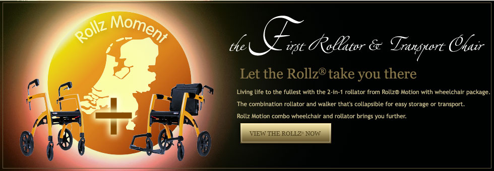 Rollz Rollator with wheelchair package