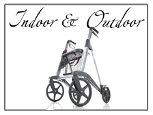 Rollators and walkers for outdoor and indoor usage