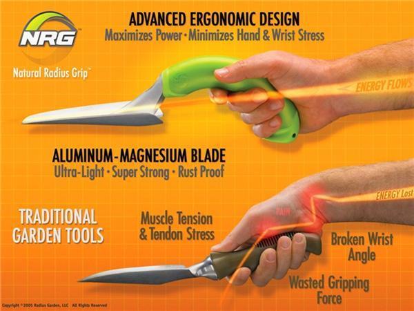 Radius Natural Ergonomic Garden Tool Set Elderluxe