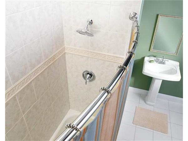 Moen Adjustable Curved Shower Curtain Rod | Elderluxe