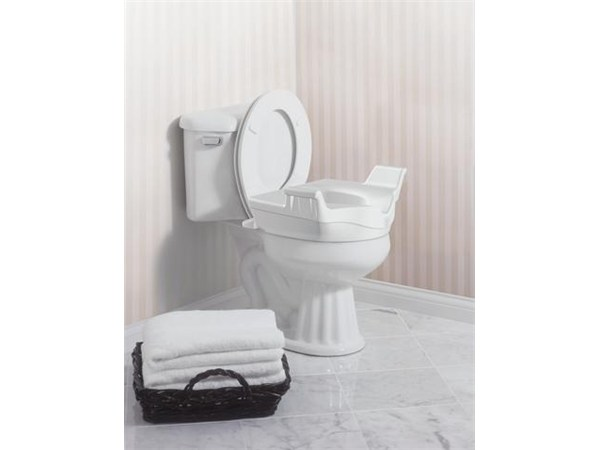 Moen Home Care Glacier Elevated Toilet Seat With Handles