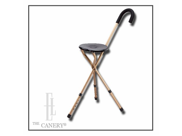 Travelleru0026#39;s Seat Cane With ADJUSTABLE Height