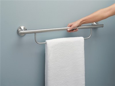moen bathroom scales moen home care 24 grab bar with towel bar lr2350d elderluxe