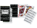 Double Jumbo Index Playing Cards with Musical Theme