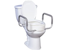 Premium Raised Toilet Seat with Removable Arms Model 12402/12403