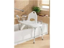Home Care® by Moen® Deluxe Tool-Free TRANSFER Bench with Included Accessories