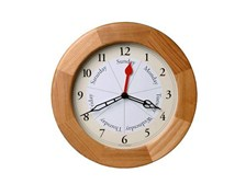 the Contemporary Oak DayClock® with Time