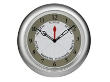 Contemporary Silver DayClock with Time