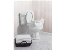 Moen Home Care Glacier elevated toilet seat with handles #DN8070