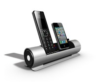 iCreations i800 Bluetooth DECT 6.0 Cordless Phone with iPhone Dock & Audio Speakers