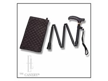 Simple Black Adjustable Folding Travel Cane