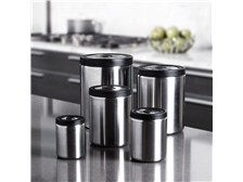 OXO® SteeL™ 5-Piece Press Top Canister Set