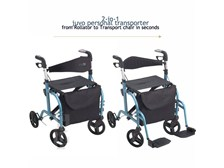 JUVO Mobi Transporter: Rollator and Transport Chair combo