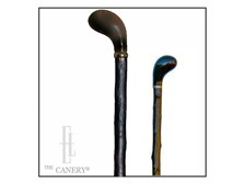 Sandalwood Pistol Grip Blackthorn Walking stick