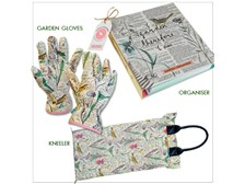 Thoughtful Gardener set with Organizer, Deluxe Gardening Gloves and Kneeler