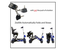 ZooMe Auto-Flex Self Folding Travel Scooter