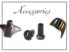 Luxury Walking Cane Accessories and Parts