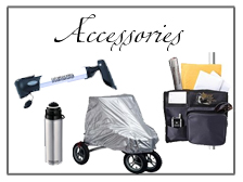 Accessories and parts for Rollators and Walkers