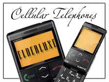 easy to use senior oriented cellular telephones with big buttons and visuals