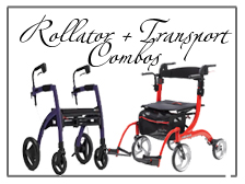 Combination Rollator and Transport Chairs