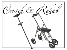 Crutches and knee walkers for rehabilitation