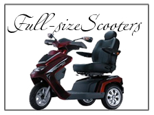 full size three wheel and four wheel scooters