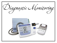 Diagnostic health monitoring devices and equipment