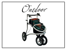 outdoor walkers and rollators