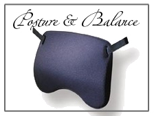 Products for back support, better posture and body balance