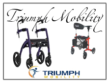 Triumph Mobility Rollators featuring Rollz and Escape