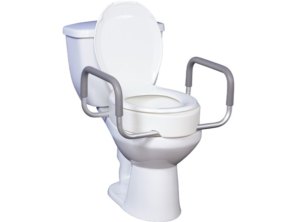 Deluxe elevated toilet seat: 2 sizes