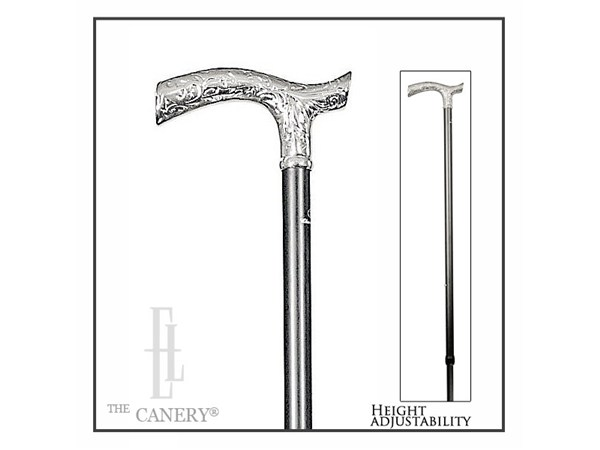 Rich Chrome Pattern Handle Cane With Wide Range