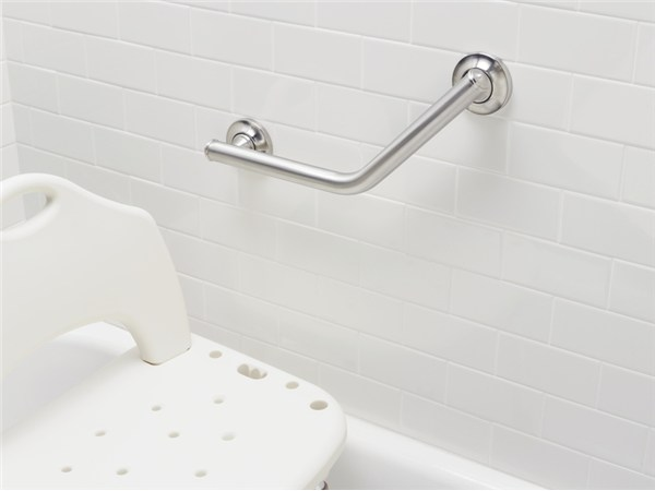 Moen Home Care 16 Quot Designer Angled Grab Bar In Brushed