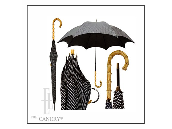 Bamboo Umbrella Black Stripe