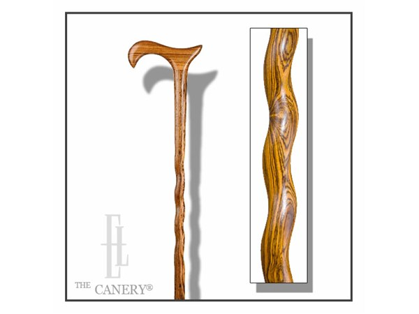 Extra Length Tall Twisted Bocote Derby Cane