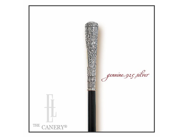 Edwardian .925 silver walking stick