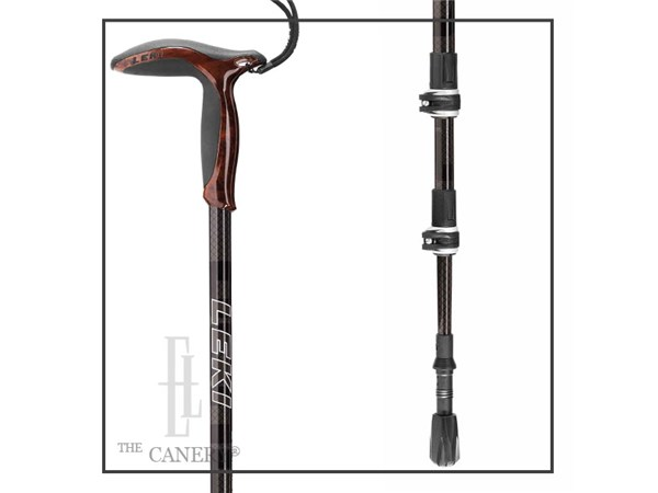 Leki Wanderfreund Black Carbon Walking Staff Elderluxe