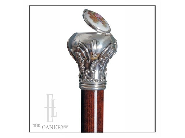 Heirloom Secret Pillbox Cane Elderluxe Unique Decorated Canes