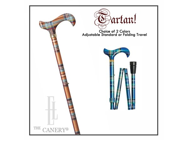 Choice of 2 Tartan Colours in Two Cane Styles