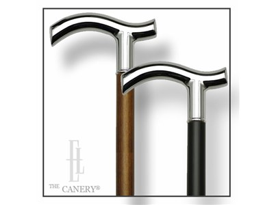 Chrome-fritz-handle-walking-cane-in-black-or-brown