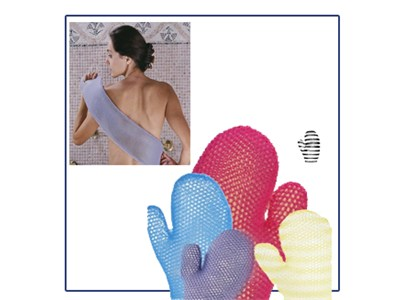 Lavender bath mitt and scrubber