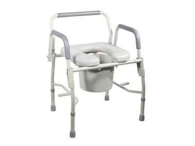Drive Medical Steel Deluxe droparm commode