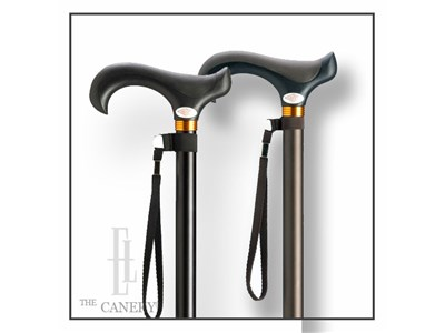 Your Choice Black or Brown Overmold ergo handle derby cane