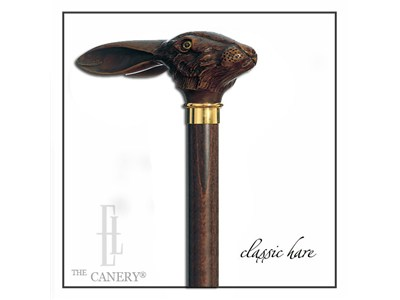 The Wild Hare rabbit's head cane