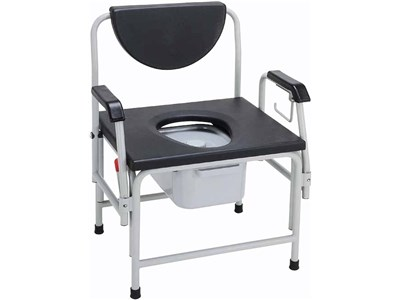 Drop arm bariatric commode from Drive