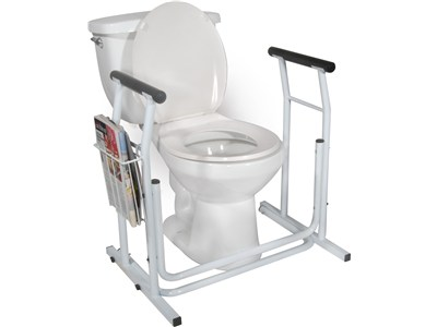 Large Toilet frame with Magazine Rack