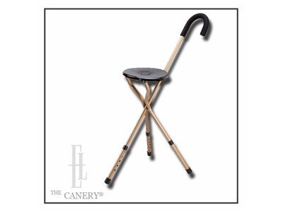 Traveller's Seat Cane with ADJUSTABLE Height