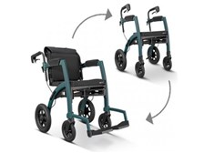 Converts easily! Rollator to Transport Chair