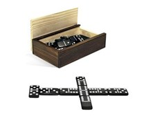 Black Domino Set by Wood Expressions